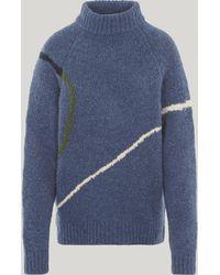 Paloma Wool Libra Intarsia Knit Sweater - Blue