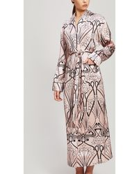 Liberty Thelma Silk Charmeuse Robe - Pink