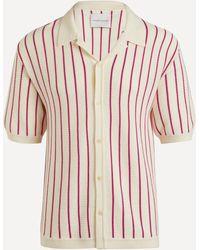 King & Tuckfield Camp Collar Merino Wool Shirt - Pink