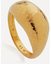 Monica Vinader Gold Plated Vermeil Silver Deia Domed Ring - Metallic
