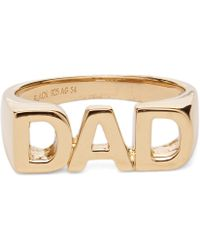 Maria Black - Gold-plated Dad Ring - Lyst