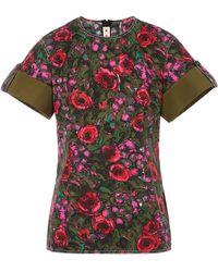 Marni Smudgy Floral Cotton T-shirt - Multicolour
