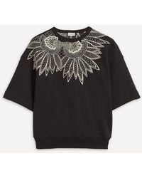 Dries Van Noten Loose Fit Embroidered Sweatshirt - Black