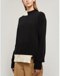 Marni Asymmetric Open-back Knit Jumper - Black