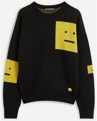 Acne Studios Wool Face Sweater - Black