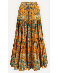 La DoubleJ Big Cotton Skirt - Orange