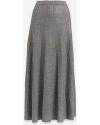 JOSEPH Lurex Pleated Midi-skirt - Grey