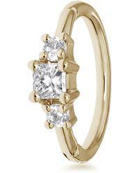 Maria Tash 2mm Diamond Princess Ring - Metallic
