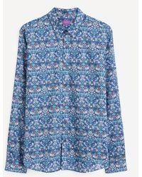 Liberty Strawberry Thief Tana Lawn Cotton Lasenby Shirt - Blue
