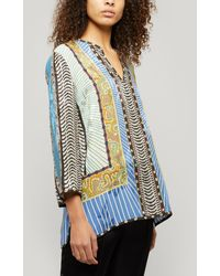 Etro Silk-blend Kaftan Blend - Multicolour