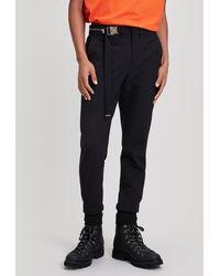 Wooyoungmi Buckle Waist Cuffed Trousers - Black