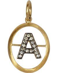 Annoushka - 18ct Gold A Diamond Initial Pendant - Lyst