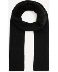 Ganni Recycled Wool-blend Scarf - Black
