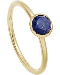 Astley Clarke Gold Vermeil Mini Stilla Lapis Lazuli Ring - Metallic