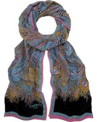 Liberty Hera Long Silk Scarf - Black