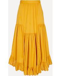 MASSCOB Primrose Asymmetric Skirt - Yellow