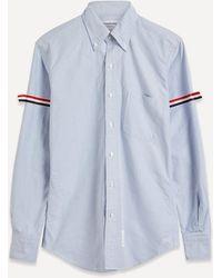 Thom Browne Grosgrain Armband Oxford Shirt - Blue