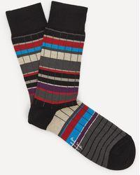 Paul Smith Ralph Ribbed Socks - Black
