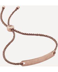 Monica Vinader Rose Gold Plated Vermeil Silver Havana Mini Friendship Bracelet - Metallic