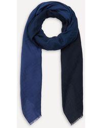 Lanvin Ombre Modal-blend Scarf - Blue