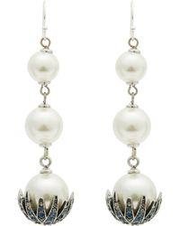 Lulu Frost - Silver-plated Paloma Triple Drop Earrings - Lyst