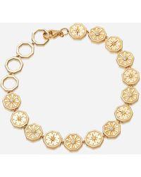 Astley Clarke Gold Plated Vermeil Silver Celestial White Sapphire Chain Bracelet - Metallic