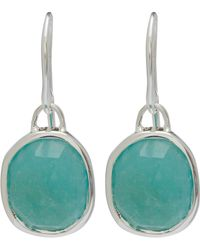 Monica Vinader - Silver Amazonite Siren Wire Earrings - Lyst