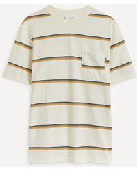 WOOD WOOD Bobby Striped T-shirt - Natural