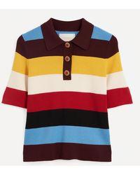 La DoubleJ Striped Polo Shirt - Multicolour