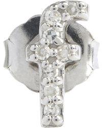 KC Designs - Diamond F Single Stud Earring - Lyst