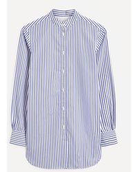Officine Generale Amelia Striped Shirt - Blue