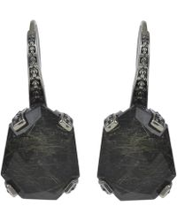 Stephen Dweck - Silver Freeform Gold Rutilated Quartz Galactical Drop Earrings - Lyst