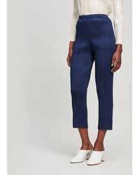 Pleats Please Issey Miyake Narrow-leg Trouser - Blue