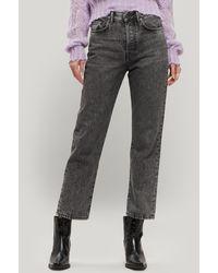 Acne Studios Mece High-rise Straight Crop Jeans - Black