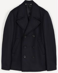 PS by Paul Smith Double-breasted Wool-blend Pea Coat - Blue