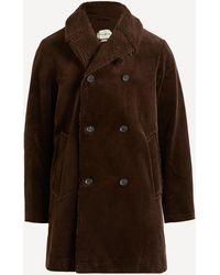 Oliver Spencer Newington Kingsley Cord Coat - Brown
