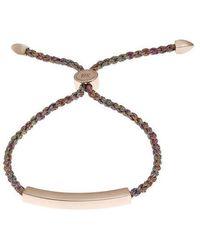 Monica Vinader Rose Gold Plated Vermeil Silver Linear Cord Friendship Bracelet - Metallic