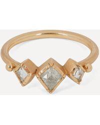Brooke Gregson Rose Gold Prism Triple Diamond Ring - Metallic