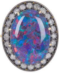 Andrea Fohrman Kat 18-karat Gold, Opal And Diamond Ring - Metallic