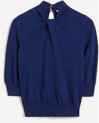 Erdem - Rumer Twist-neck Cashmere-cotton Jumper - Lyst