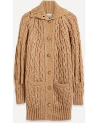 Chloé Oversize Chunky Cable-knit Cardigan - Multicolour