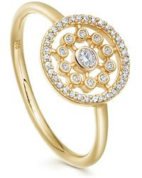 Astley Clarke Gold Medium Icon Nova Diamond Ring - Metallic