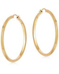 Astley Clarke Gold Plated Vermeil Silver Large Linia Hoop Earrings - Metallic