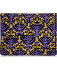 Liberty | Travel Card Holder In Iphis Canvas | Lyst