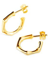 Dinny Hall - Gold-plated Bamboo Mini Hoop Earrings - Lyst