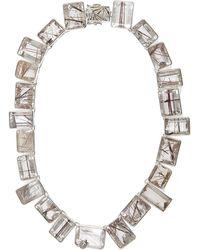 Stephen Dweck Silver Strawberry Rutilated Quartz Necklace - Metallic