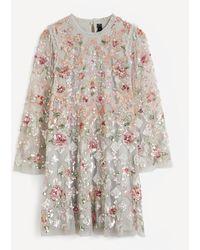 Needle & Thread Harlequin Rose Sequin Embellished Mini-dress - Multicolour