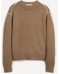 Acne Studios Fluffy Alpaca-blend Contrast Stitch Knit - Multicolour