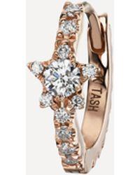 "Maria Tash 5/16"" White Gold Pearl Coronet Earring - Multicolour"