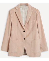 Officine Generale Charlene Single-breasted Cord Jacket - Natural
